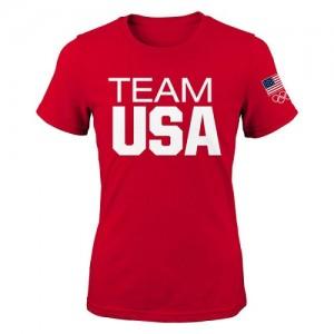 NBA T-Shirt Team USA Femme Coast to Coast Rouge