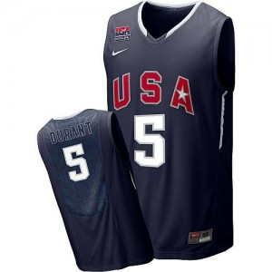 Nike NBA Maillots De Basket Kevin Durant Team USA 2010 World Tournament Basketball No.5 Blanc Homme