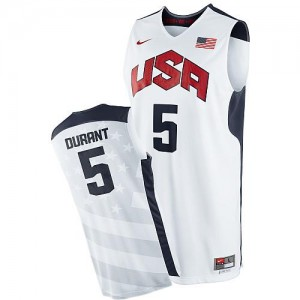 Nike NBA Maillot De Durant Team USA Homme 2012 Olympics Basketball Blanc No.5