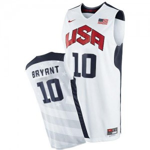 Nike NBA Maillots De Kobe Bryant Team USA Homme 2012 Olympics Basketball Blanc #10