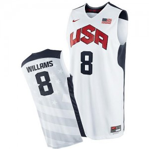Nike Maillots De Basket Williams Team USA #8 Homme 2012 Olympics Basketball Blanc