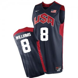Maillots De Williams Team USA bleu marine Nike #8 2012 Olympics Basketball Homme