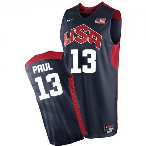 Nike NBA Maillots Chris Paul Team USA Homme 2012 Olympics Basketball bleu marine #13