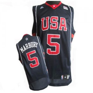 Nike NBA Maillot De Stephon Marbury Team USA #5 Summer Olympics Basketball Homme bleu marine
