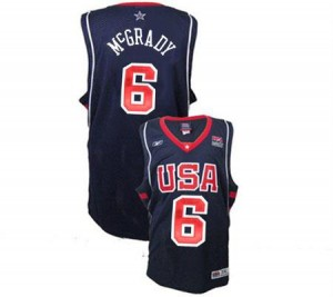 Nike NBA Maillots Basket Tracy McGrady Team USA Homme Summer Olympics Basketball #6 bleu marine