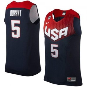 Maillots De Basket Kevin Durant Team USA 2014 Dream Team Basketball Homme No.5 bleu marine Nike
