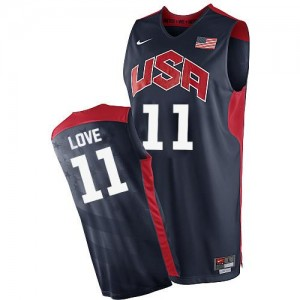Nike NBA Maillot De Basket Love Team USA bleu marine Homme 2012 Olympics Basketball No.11