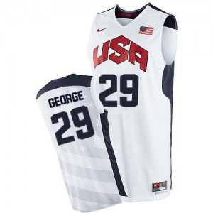 Nike NBA Maillot Basket George Team USA #29 2012 Olympics Basketball Homme Blanc
