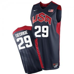 Nike Maillot Paul George Team USA #29 2012 Olympics Basketball Homme bleu marine