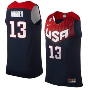 Nike NBA Maillot De Basket Harden Team USA 2014 Dream Team Basketball Homme #13 bleu marine