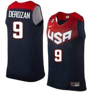 Nike Maillot Basket DeMar DeRozan Team USA 2014 Dream Team Basketball No.9 bleu marine Homme
