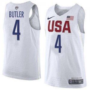 Maillot Butler Team USA No.4 Blanc Nike Homme 2016 Olympics Basketball