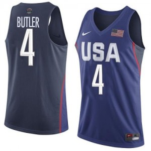 Maillots Basket Butler Team USA bleu marine No.4 2016 Olympics Basketball Nike Homme