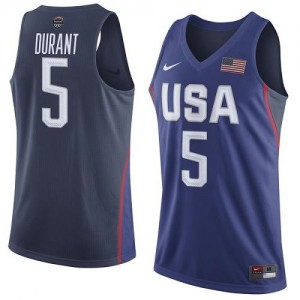 Maillots De Basket Kevin Durant Team USA Nike 2016 Olympics Basketball Homme No.5 bleu marine