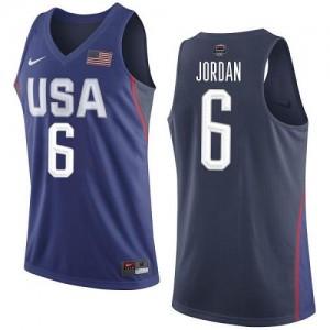 Maillots DeAndre Jordan Team USA Homme 2016 Olympics Basketball bleu marine Nike No.6