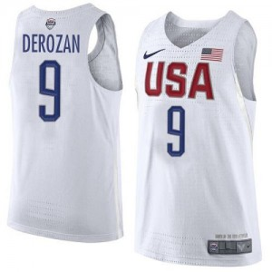 Nike NBA Maillot DeRozan Team USA 2016 Olympics Basketball Blanc No.9 Homme