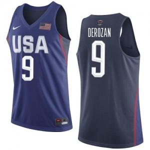 Maillot DeRozan Team USA Homme Nike #9 bleu marine 2016 Olympics Basketball