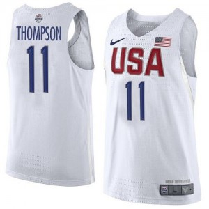 Nike NBA Maillot De Basket Klay Thompson Team USA Blanc No.11 2016 Olympics Basketball Homme
