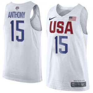 Nike Maillots Basket Anthony Team USA 2016 Olympics Basketball Blanc Homme No.15