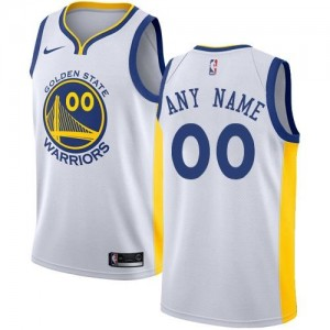 Nike Maillot Personnalisé Golden State Warriors Association Edition Blanc Enfant