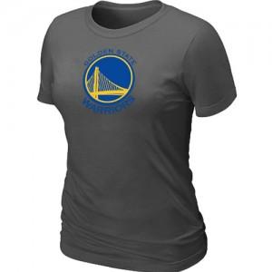 NBA Tee-Shirt De Basket Golden State Warriors Femme Big & Tall Primary Logo Gris foncé