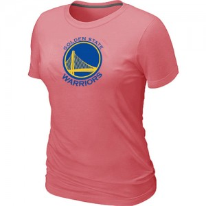 NBA Tee-Shirt Golden State Warriors Femme Rose Big & Tall Primary Logo