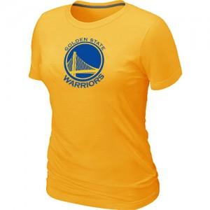 NBA T-Shirt Basket GSW Jaune Femme Big & Tall Primary Logo