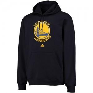 Adidas Hoodie Basket GSW Team Logo Pullover Sweatshirt Homme bleu marine