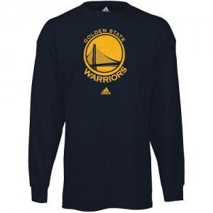 Tee-Shirt Warriors Homme Navy Blue Prime Logo Long Sleeve