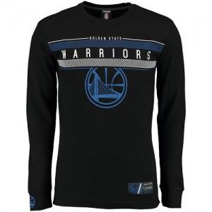 Tee-Shirt Basket Warriors UNK MVP Midtown Long Sleeve Thermal Homme Noir