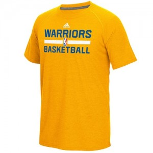 Adidas Tee-Shirt GSW Team Homme or On-Court Climalite Ultimate