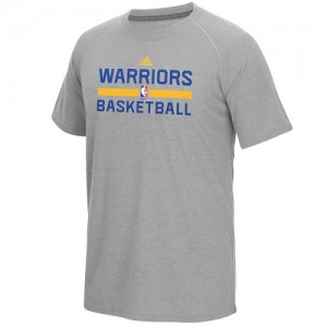 Tee-Shirt De Basket GSW Adidas Homme Gris On-Court climalite Ultimate