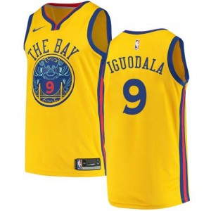 Nike NBA Maillots De Andre Iguodala Golden State Warriors City Edition Homme #9 or