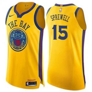 Nike NBA Maillots De Basket Latrell Sprewell GSW or No.15 City Edition Enfant