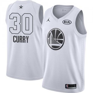 Jordan Brand Maillot Stephen Curry GSW No.30 Blanc Enfant 2018 All-Star Game