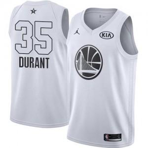 Maillot Kevin Durant Golden State Warriors Blanc Enfant Jordan Brand 2018 All-Star Game #35