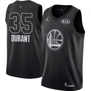 Maillots De Basket Kevin Durant GSW Team Enfant Jordan Brand #35 2018 All-Star Game Noir