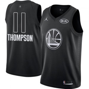 Maillots De Basket Klay Thompson Warriors Noir Jordan Brand 2018 All-Star Game No.11 Enfant