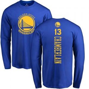 Nike T-Shirts De Chamberlain Warriors #13 Homme & Enfant Long Sleeve Bleu royal Backer