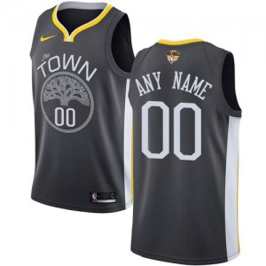 Maillot Personnalise De Golden State Warriors Noir 2018 Finals Bound Statement Edition Enfant Nike