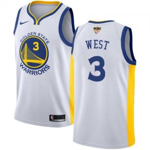 Nike Maillots West Golden State Warriors Blanc #3 Enfant 2018 Finals Bound Association Edition