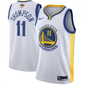 Nike NBA Maillot Basket Klay Thompson GSW Team 2018 Finals Bound Association Edition Blanc Enfant #11