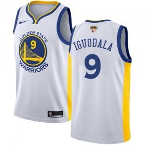 Nike Maillot De Basket Andre Iguodala GSW Team 2018 Finals Bound Association Edition Enfant Blanc No.9