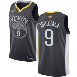 Nike NBA Maillots De Iguodala Warriors #9 2018 Finals Bound Statement Edition Enfant Noir