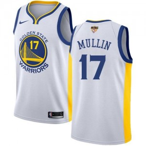 Maillots De Chris Mullin GSW Team Blanc Nike #17 2018 Finals Bound Association Edition Enfant