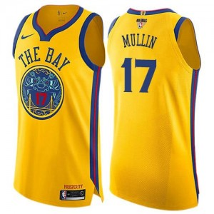 Nike NBA Maillots Basket Mullin Golden State Warriors or #17 Enfant 2018 Finals Bound City Edition