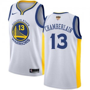 Nike Maillots De Chamberlain Golden State Warriors Blanc 2018 Finals Bound Association Edition No.13 Enfant
