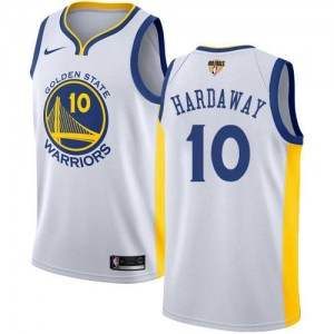 Maillot Hardaway Golden State Warriors No.10 Enfant Nike 2018 Finals Bound Association Edition Blanc