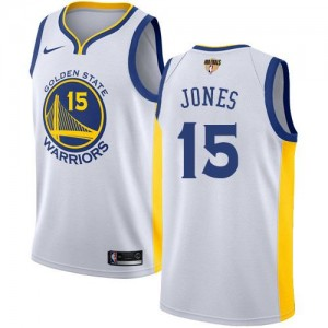 Nike Maillot De Jones GSW Team Enfant 2018 Finals Bound Association Edition Blanc No.15