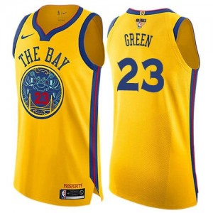 Nike Maillot De Green GSW Team No.23 Enfant 2018 Finals Bound City Edition or